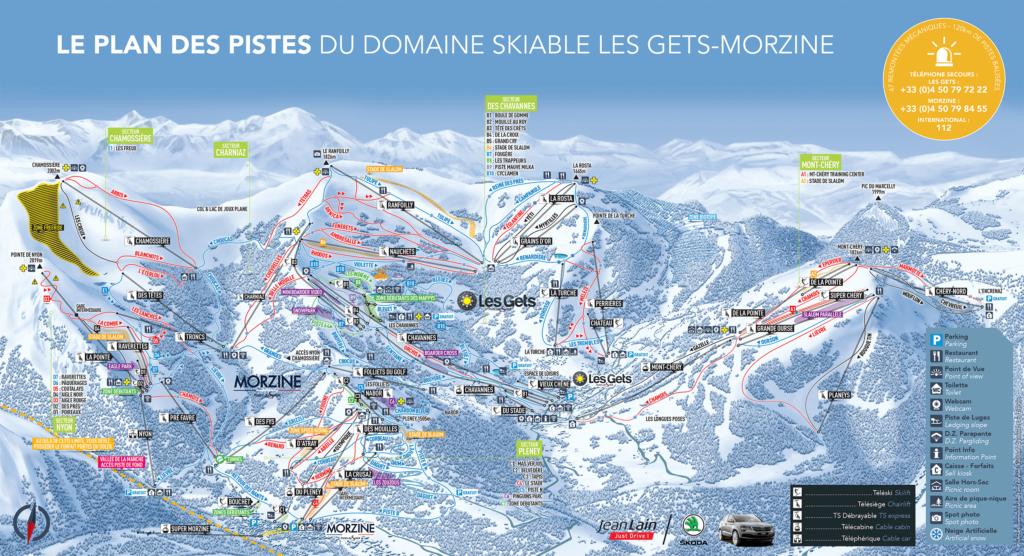 Morzine - Les Gets Piste Map - Morzine Resort Guide
